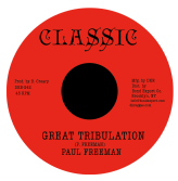 Paul Freeman - Great Tribulation / Version (Classic / DKR) 7""